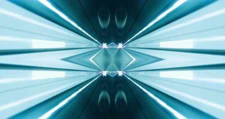 célere : Kaleidoscope-like abstract POV created out of a video captured on a vehicle in a tunnel
