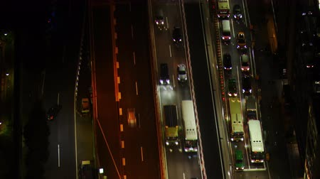 wachtrij : Big City Traffic van de Above Lapse Stockvideo