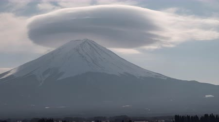Shot at Lake Kawaguchi, Fuji Five Lakes in Yamanashi Pref., Japan. Stock Footage