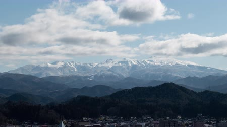 lookout point : Mt. Ontake from Takayama City, Gifu Pref., Japan Stock Footage