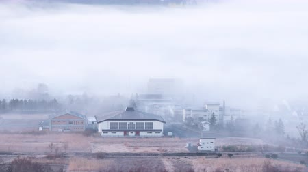 Войти : A Rural Village Emerging from a Dense Fog (Time LapsePanning)