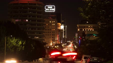 Night Time Lapse of Vine Street, Hollywood (4K)