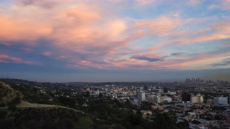 Time Lapse of Sunset Clouds over Los Angeles (4K) Vídeos