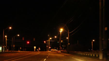 point of view pov : Night driving in the city