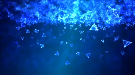 drahokamy : Abstract Triangle Background Animation - Loop Blue