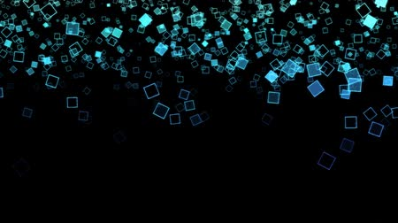 пиксель : Abstract Falling Squares Background Animation - Loop Blue
