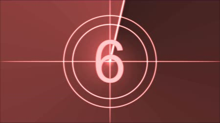 crosshair : Movie Countdown Animation - Red Stock Footage