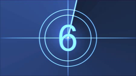 crosshair : Movie Countdown Animation - Blue Stock Footage