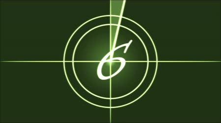 crosshair : Movie Countdown Animation - Green Stock Footage