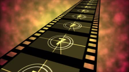 crosshair : Movie Countdown Animation - Loop Orange Stock Footage