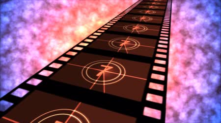 crosshair : Movie Countdown Animation - Loop Red Purple Stock Footage