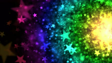 arco íris : Colorful Star Particle Background - Loop Rainbow