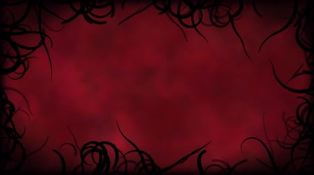 çizmek : Black Vines Border Background Animation - Loop Red Stok Video