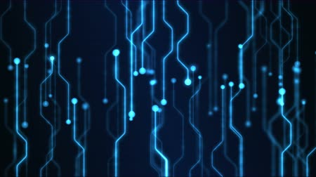 circuiti : Technology Abstract Circuit Background Animation - Loop Blu