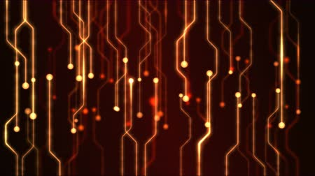 elektronický : Abstract Technology Circuit Background Animation - Loop Red