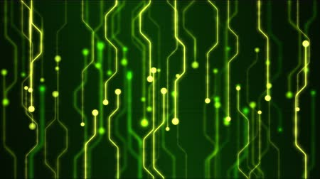 микро : Abstract Technology Circuit Background Animation - Loop Green