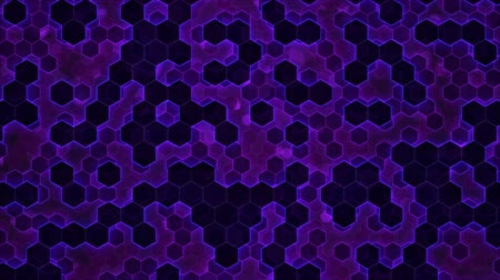 platforma : Scrolling Hexagon Background Animation - Loop Violet