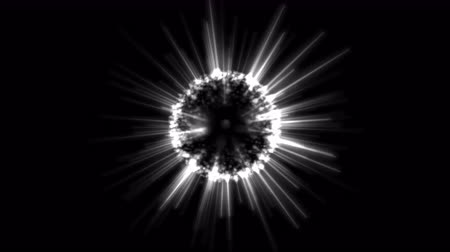 orbe : Abstract Rotating Shining Sphere Animation - Loop Silver