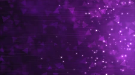 trójkąt : Triangle Particle Background Animation - Loop Purple