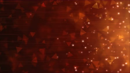 trójkąt : Triangle Particle Background Animation - Loop Red Wideo
