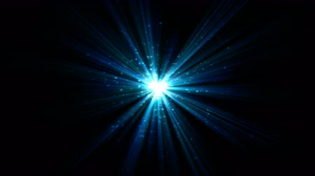 star shape : Bright Star and Light Animation - Loop Blue