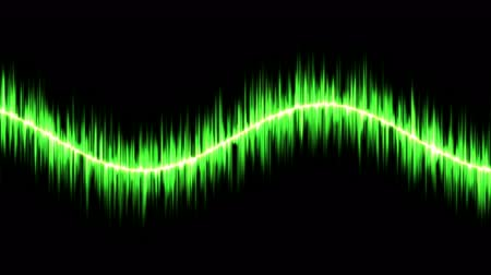 calcário : Audio Sound Sine Wave Animation - Loop Green