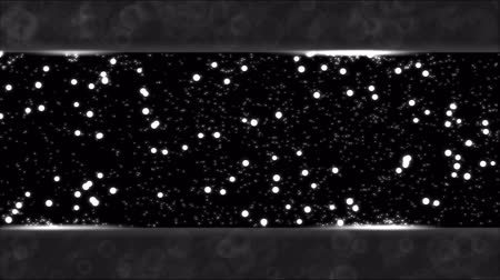 отскок : Abstract Bouncing Stars and Lights Animation - Loop Black and White Стоковые видеозаписи