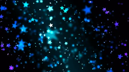 star shape : Abstract Star Particle Background - Loop Blue Stock Footage