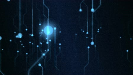 circuiti : Abstract Technology Circuit Background Animation - Loop Blu