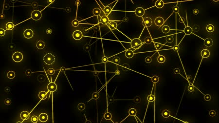 hexágono : Connected Objects, Information Exchange Animation - Loop Yellow