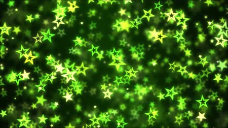 magical : Falling Star Shapes Background Animation - Loop Green