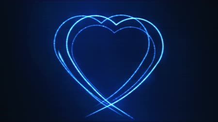 çizmek : Drawing Heart Shape Motion Background Animation - Loop Blue