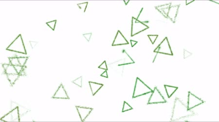 kreslit : Drawing Triangle Shapes on White Background Animation - Loop Green