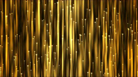 orange : Rising Particle Beams Background Animation - Loop Golden