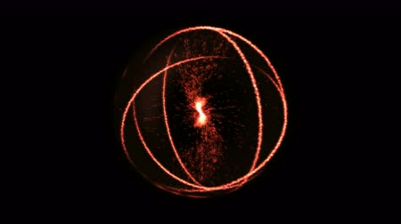 orbe : Scientific Energy Sphere Animation - Loop Red Stock Footage