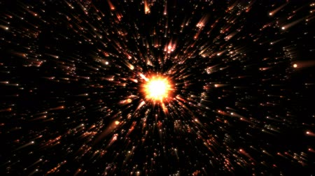 iluminado pelo sol : Stars or Energy Particle Charging Animation - Loop Orange