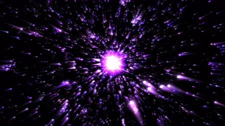 gravidade : Stars or Energy Particle Charging Animation - Loop Purple
