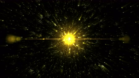 star shape : Stars or Energy Particle Charging Animation - Loop Yellow