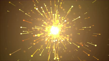irradiar : Bright Particle Emitting Light Effect Animation - Loop Golden
