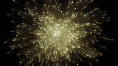sylvester : Particle Dust Explosion, Fireworks Burst - Yellow