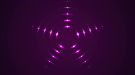 устроенный : Colorful Flashing Circular Arranged Lights - Seamless Loop Pink
