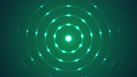 вихрь : Colorful Flashing Circular Arranged Lights - Seamless Loop Turquoise