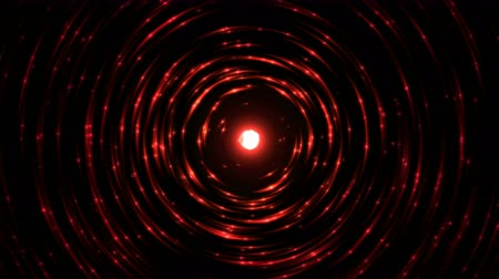 crimson : Colorful Circular Particle Emitting Sphere Animation - Seamless Loop Red Stock Footage