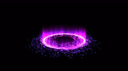 alchemy : Colorful Shining Magic Circle Lights and Particles - Seamless Loop Purple Stock Footage