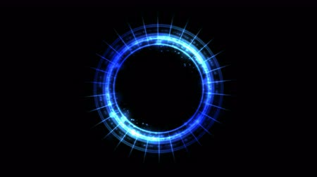 stroke : Colorful Shining and Rotating Light Circle Pattern - Seamless Loop Blue