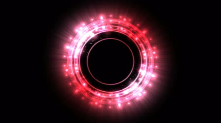 alchemy : Colorful Shining and Rotating Light Circle Shapes - Seamless Loop Red