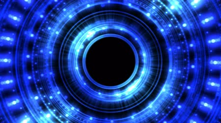 alchemy : Colorful Shining and Rotating Light Circle Shapes - Seamless Loop Blue Stock Footage