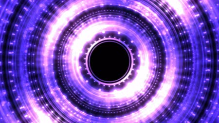 alchemy : Colorful Shining and Rotating Light Circle Shapes - Seamless Loop Purple