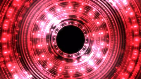 Colorful Shining and Rotating Light Circle Shapes - Seamless Loop Red