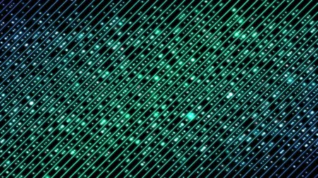 tecnológica : Colorful Diagonal Beams Pattern and Light Animation - Loop Turquoise Blue Stock Footage